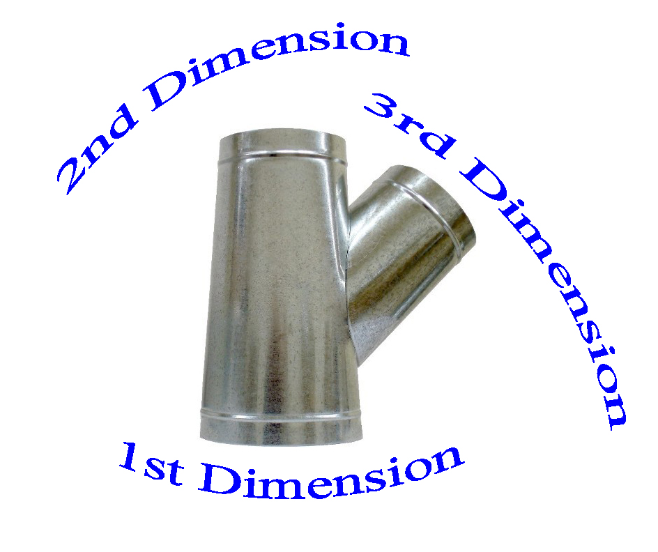 Heating Duct Fittings : Sheet metal duct fitting y branch